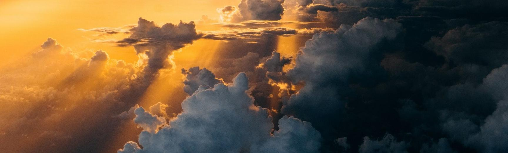 Photo of clouds in a sunset