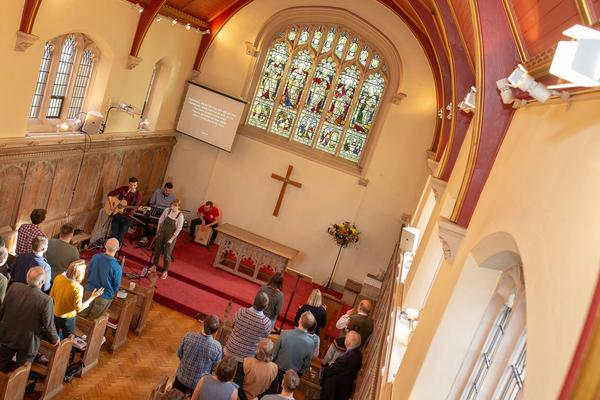 Photo of Wycliffe Hall Chapel during a service