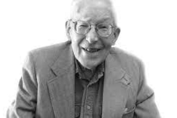 J I Packer black and white portrait photo