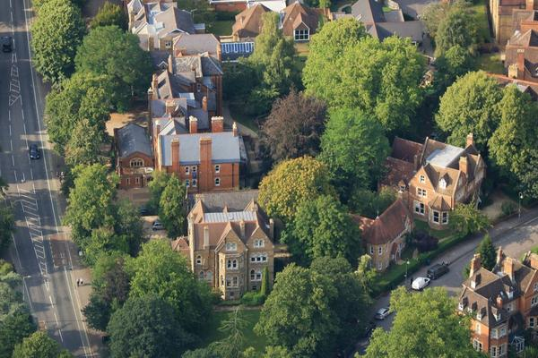Aerial view of Wycliffe Hall
