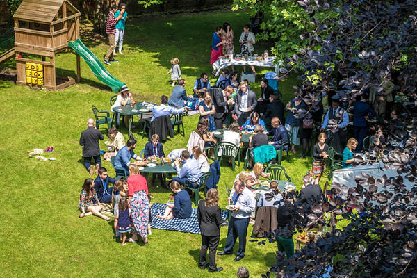 Outdoor event at Wycliffe Hall