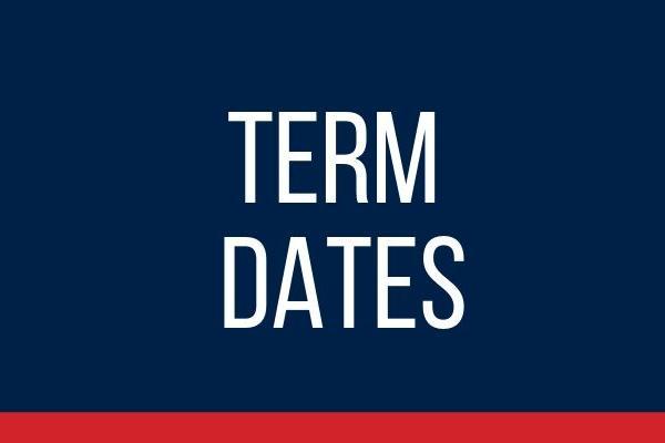 Image saying Term Dates