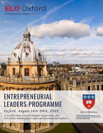 ENTREPRENEURIAL LEADERS Programme Brochure 2022