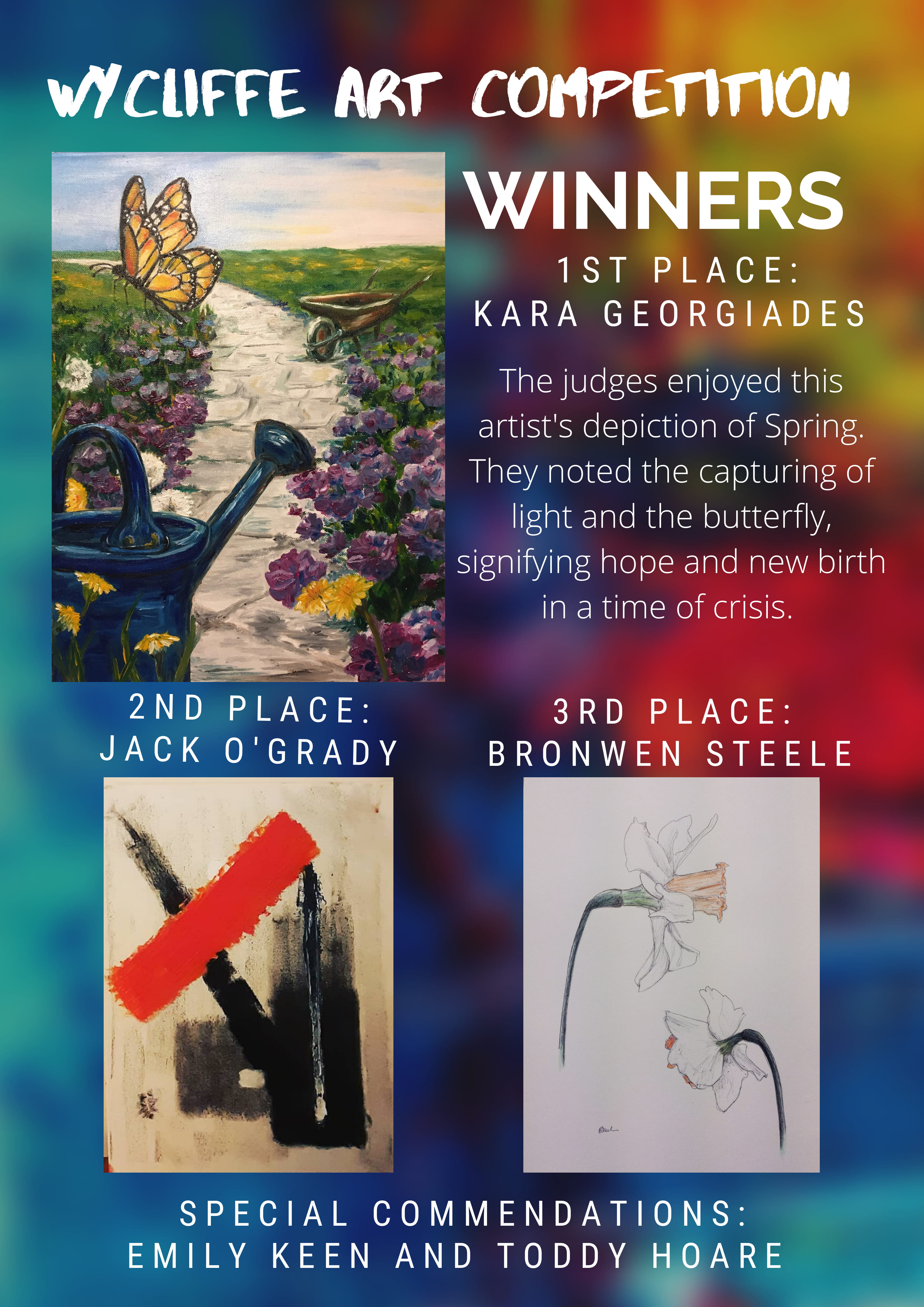 wycliffe art competition march 2020 winners poster