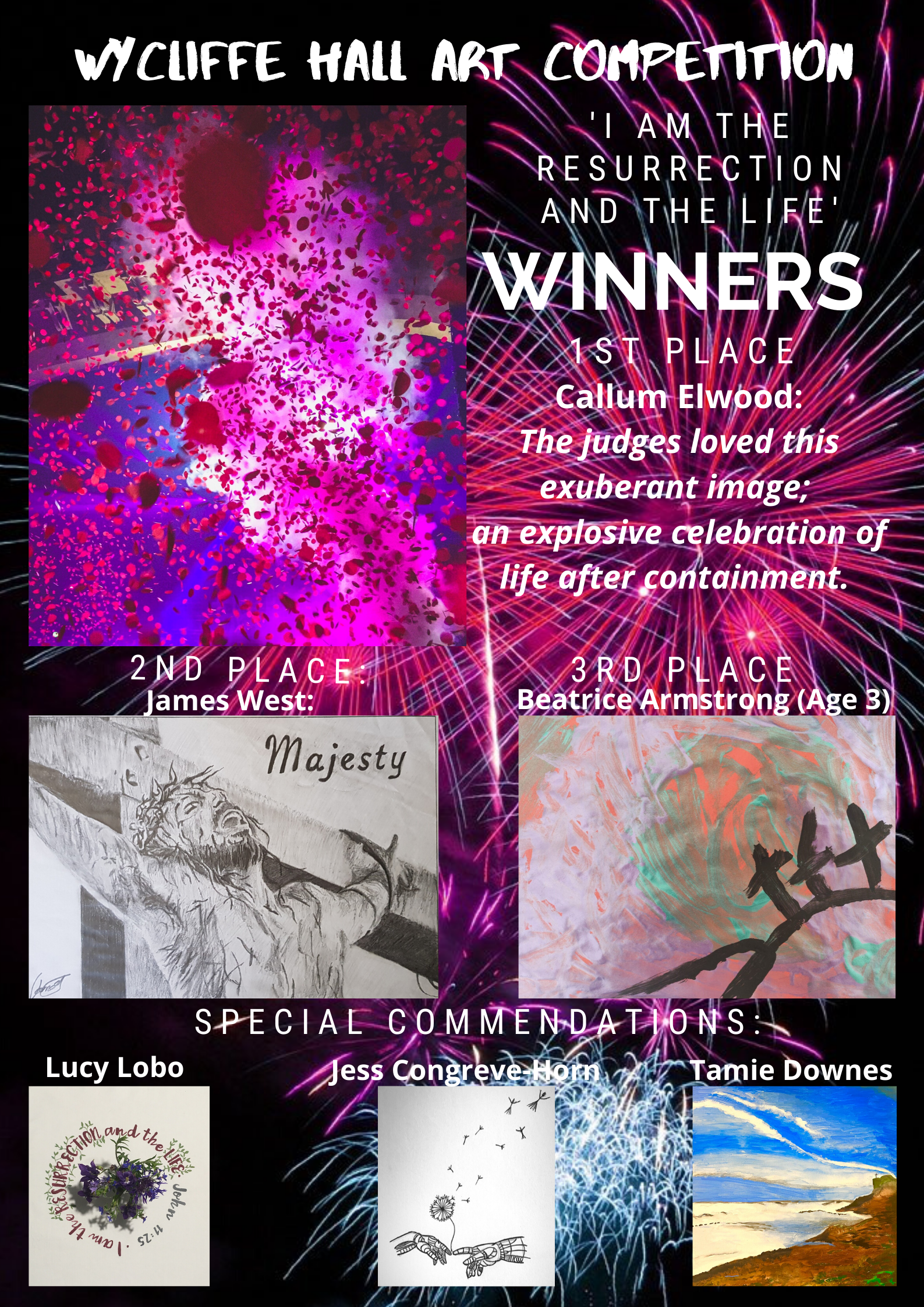 Wycliffe Art Competition winners poster